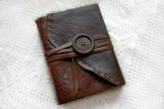 Leather Journal...these go back before my memory....but my children have learned the art, and made their own.