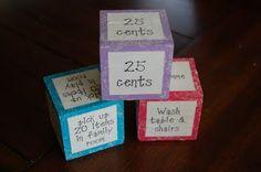 Chore dice... what a FAB idea!