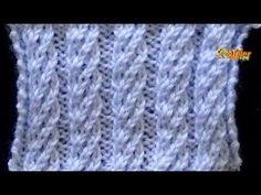 Cómo Tejer Punto ESPIRAL GRANDE - 2 agujas (443) - YouTube