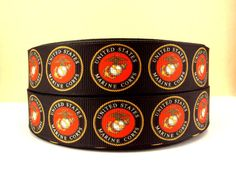 1 US Military Marine Corps Grosgrain Ribbon by Military Ribbons, Marine Corps, Grosgrain Ribbon, Marines, Cuff Bracelets, The Unit, Hobby Ideas, Unique Jewelry, Handmade Gifts