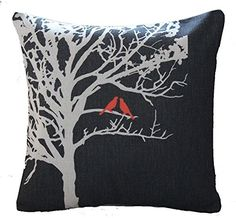 Lyn Cotton Linen Square Throw Pillow Case Decorative Cush...