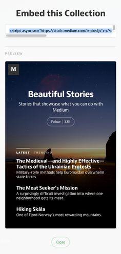 Embed Medium Anywhere — Medium Help Center — Medium