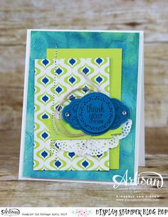 Learn how to create this card working with Glossy Paper,   Label Me Pretty Stamp Set, Stampin' Up!