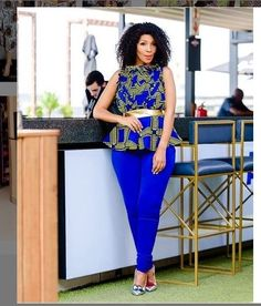 Beautiful Ankara Tops Styles for Ladies 2019 Ankara Tops Blouses, Ankara Peplum Tops, Ankara Blouse, Ankara Skirt, African Wear Dresses, African Fashion Ankara, African Style, African Clothes, African Men