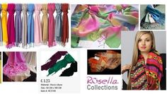 Women Scarves & Stoles - www.rosellacollections.com Cotton Scarves, Uk Retail, Womens Scarves, Color Patterns, Lady, Collection, Design, Color Swatches, Collar Pattern