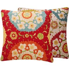 Red Pillow Cover 18x18 Suzani Medallion by ChloeandOliveDotCom, $41.50