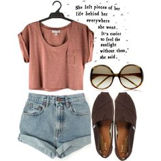 I would totally wear this with a pair of tan oxfords instead of toms.