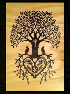 German Paper Cutting Patterns | Tree of Life Fine Art Wood Print | Hex Magazine