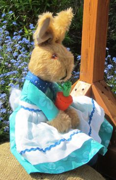 OaaK  Toy Brown Plush Bunny Rabbit Collectable by COLDHAMCUDDLIES
