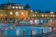 Indulge and relax at the famous Szechnyi spa in Budapest, Hungary