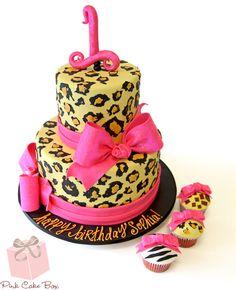 Leopard Print Birthday Cake | http://blog.pinkcakebox.com/leopard-print-birthday-cake-2012-08-31.htm