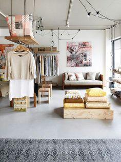 Inspiração do dia: closet de ateliê super bem organizado