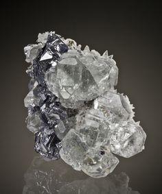 Fluorite, Galena, Calcite -   Naica, Chihuahua, Mexico  small cabinet, 7.7 x 5.6 x 4.5 cm  share specimen