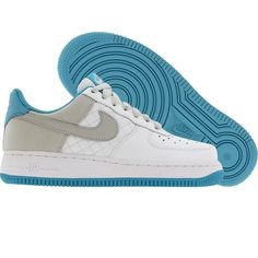 Nike Womens Air Force 1 07 Low (white / neutral grey / cayman) 318769-101 - $74.99