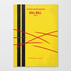 No049 My Kill Bill - part 2 minimal movie poster Stretched Canvas by Chungkong