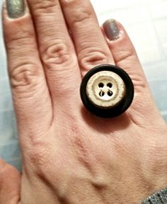 Upcycled Large Double Button Ring by MalsRingsAndThings on Etsy, $10.00