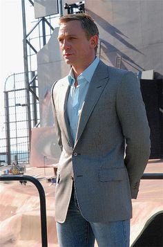 Daniel Craig.  I want this sports coat!