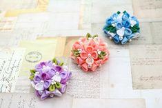 ハンドメイドマーケット+minne(ミンネ)|+【選べるお色&金具】紫陽花のブローチ&髪飾り+