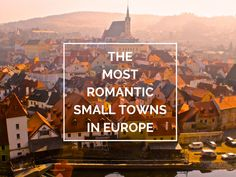 MOST ROMANTIC towns