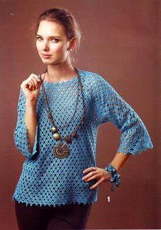 Crochetemoda: Blusa de Crochet   Free pattern