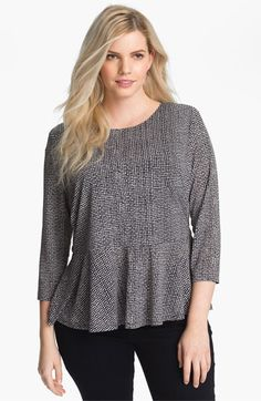 Vince Camuto Print Peplum Top (Plus) available at #Nordstrom