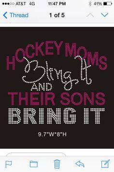 Rhinestone hockey mom tshirt by BlingGirlfriends on Etsy, $20.00