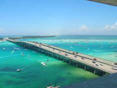 Destin, FL on of my favorite places in the world. I always love driving over this bridge and checking out Crab Island :]