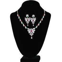 Necklace Set Encrusted With Multi color CZ and AD Stones fashion jewelry