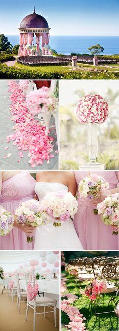Pink inspiration wedding board.