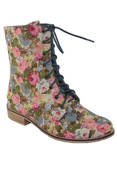 {canvas floral booties} so '90s! (but in a good way ;)