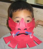 Templates for Japanese Samurai mask, sword and other items from the Asian Art Museum