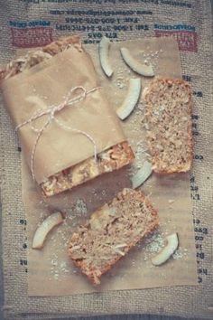 Eggless Banana Coconut Cream Loaf | KiranTarun.com #baking #bread #healthy #dessert
