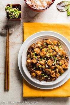 Stir Fried Chicken with Black Bean Sauce (豉汁干葱爆鸡球) - A simple and rich black bean sauce with tons of herbs to bring out the best flavor of the chicken. Duck Recipes, Stir Fry Recipes, Chicken Recipes, Yummy Recipes, Recipies, Garlic Sauce For Chicken, Easy Chicken Stir Fry, Chinese Stir Fry, Asian Stir Fry