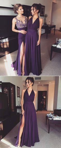elegant purple evening party dresses, fashion 2 style prom gowns, #purple