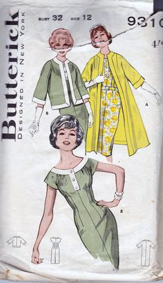 1960s Vintage Pattern Butterick 9310 by allthepreciousthings,
