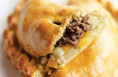 The Hairy Bikers' delicious Cornish pastry recipe.This recipe makes 6 Cornish pasties and will take around and 10 mins to prepare and cook. If you have any leftover pasties, leave to cool thoroughly and then store wrapped in clingfilm in the fridge. Pastry Recipes, Meat Recipes, Baking Recipes, Uk Recipes, Lunch Recipes, Mary Berry, Empanadas, Cornish Pastry, Gourmet