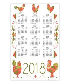 Another great find on #zulily! 2018 Calendar Dish Towel #zulilyfinds