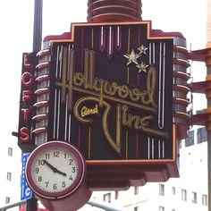 Vintage neon sign- Hollywood and Vine Lofts