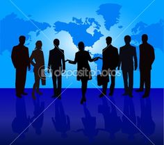 Business People - vector silhouette by vanias - Stock Vector