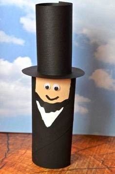 President Abraham Lincoln Toilet Paper Tube recycled Craft for Kids