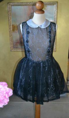 Black Silk Organza Dress