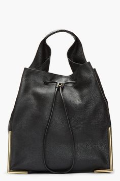 3.1 PHILLIP LIM Black Lux Grain Goat leather Scout Hobo bag