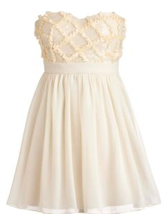 White dress that is great for prom!