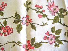 Wilendur Apple Blossom   Vintage Cotton Fabric by AlorasAdorables, $10.99