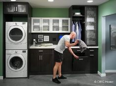 Image result for laundry room with hanging space