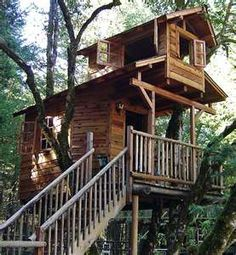 Two story Treehouse .