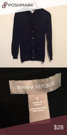 Banana Republic Black Cardigan Banana Republic Long Black Cardigan. Size small. Only worn once. Perfect condition. Goes great with leggings and boots! Banana Republic Sweaters Cardigans