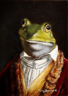 """""""Horatio of the Oak Leaves"""" by Olivia  Beaumont-reminds me of Mr Toad of Toad Hall. Or is it: """"Cosimo?"""""""