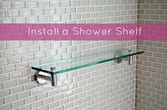 Quick Tip: How to Install a Shower Shelf Over Glass or Ceramic Tiles   Man Made DIY   Crafts for Men   Keywords: shelf, tips, bathroom, organization