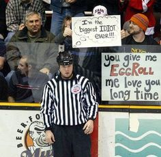 I love hockey fans.